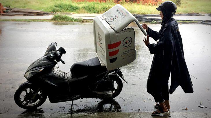 베트남 라자다(Lazada)에서 쇼핑하면 오토바이 택배가 온다?